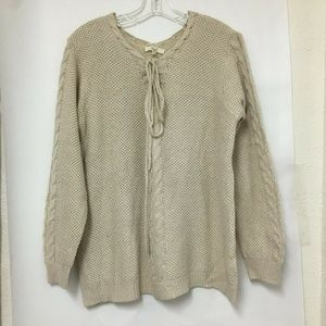 EASEL  Ivory Oversized Sweater Anthropologie S